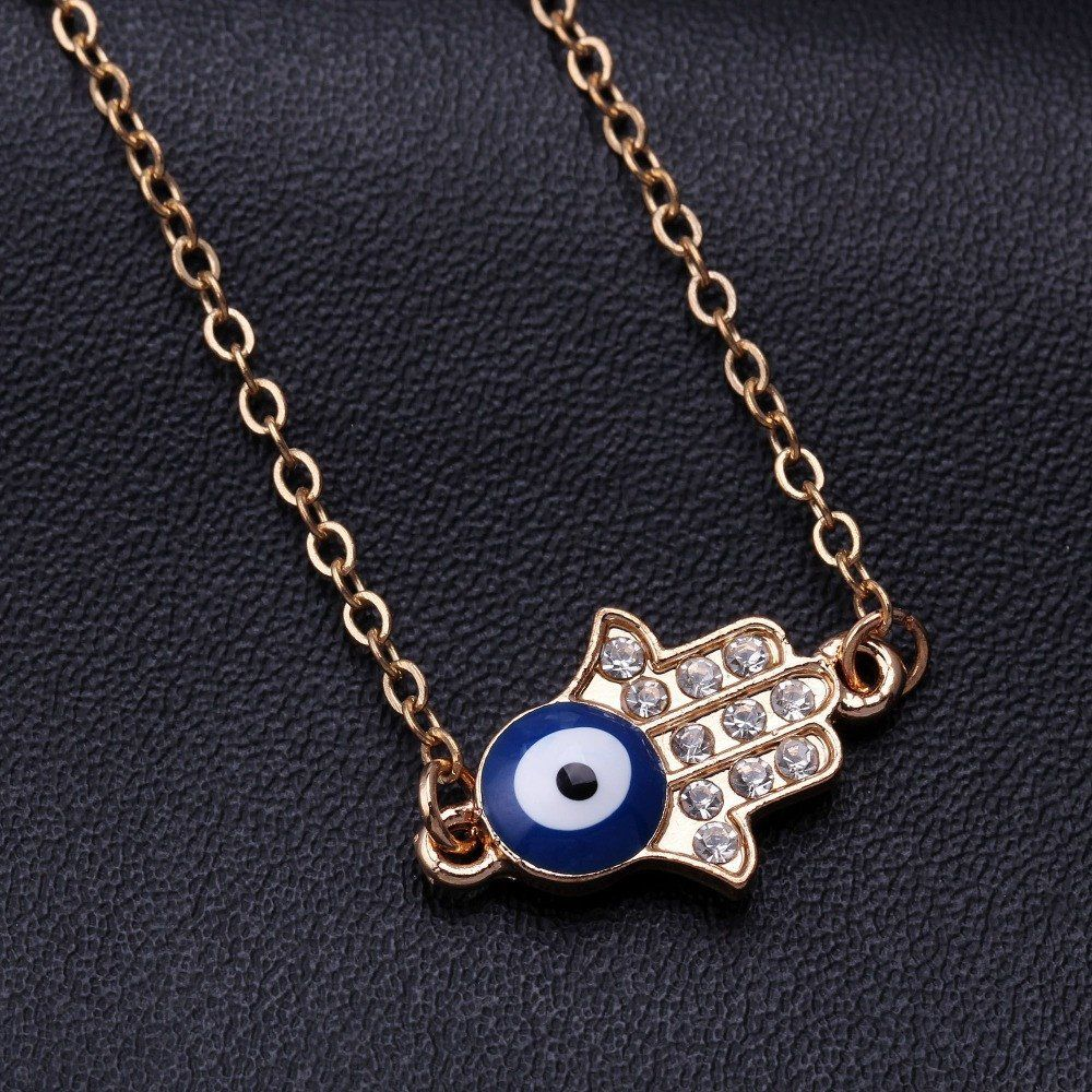Hot ONE PIECE Devil s Eye Necklace Long Necklace buddha hand colar evil eye… 08a5f85b4