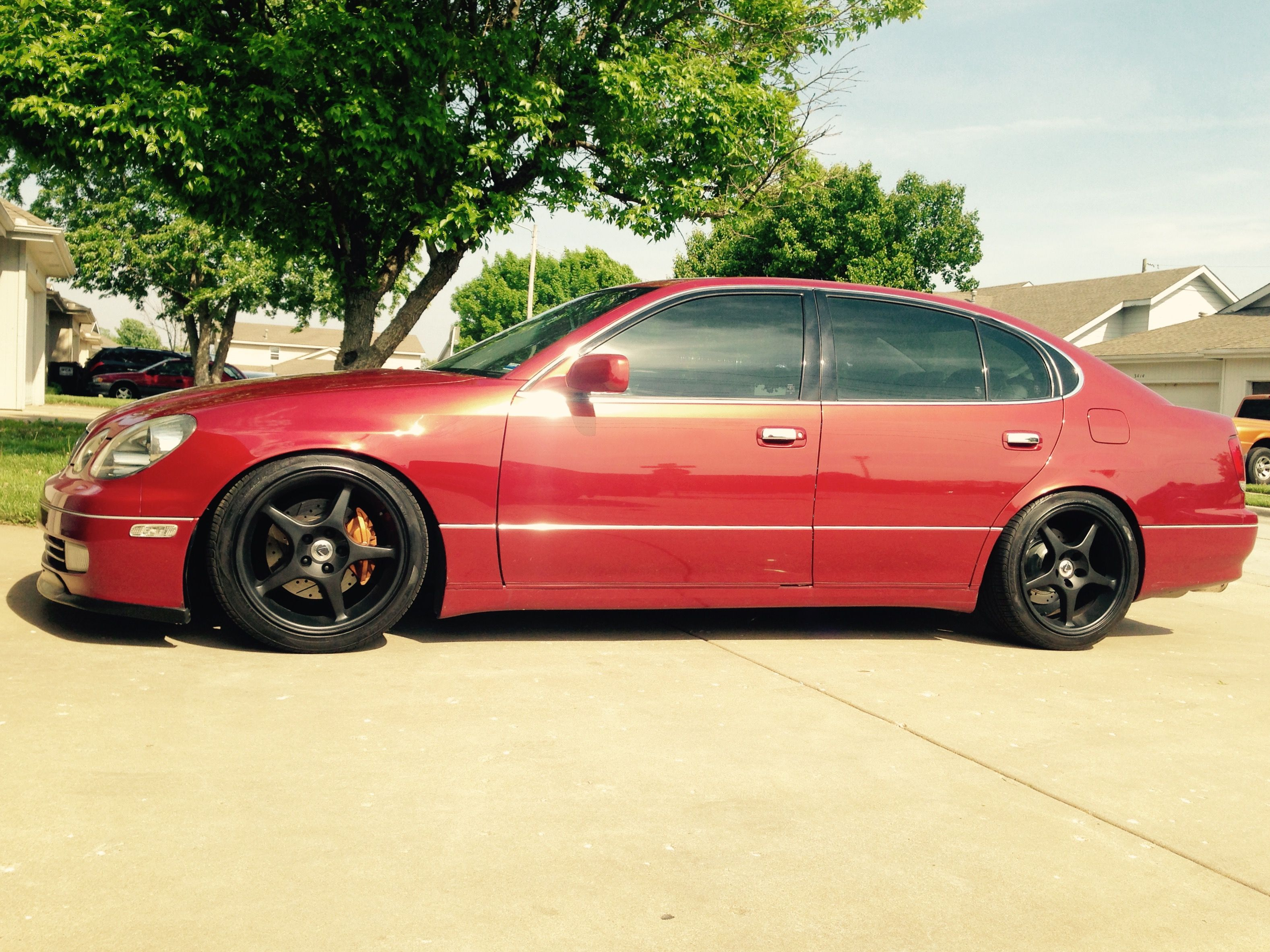 hight resolution of gs400 with black cobra 18x9 and factory lexus centercaps