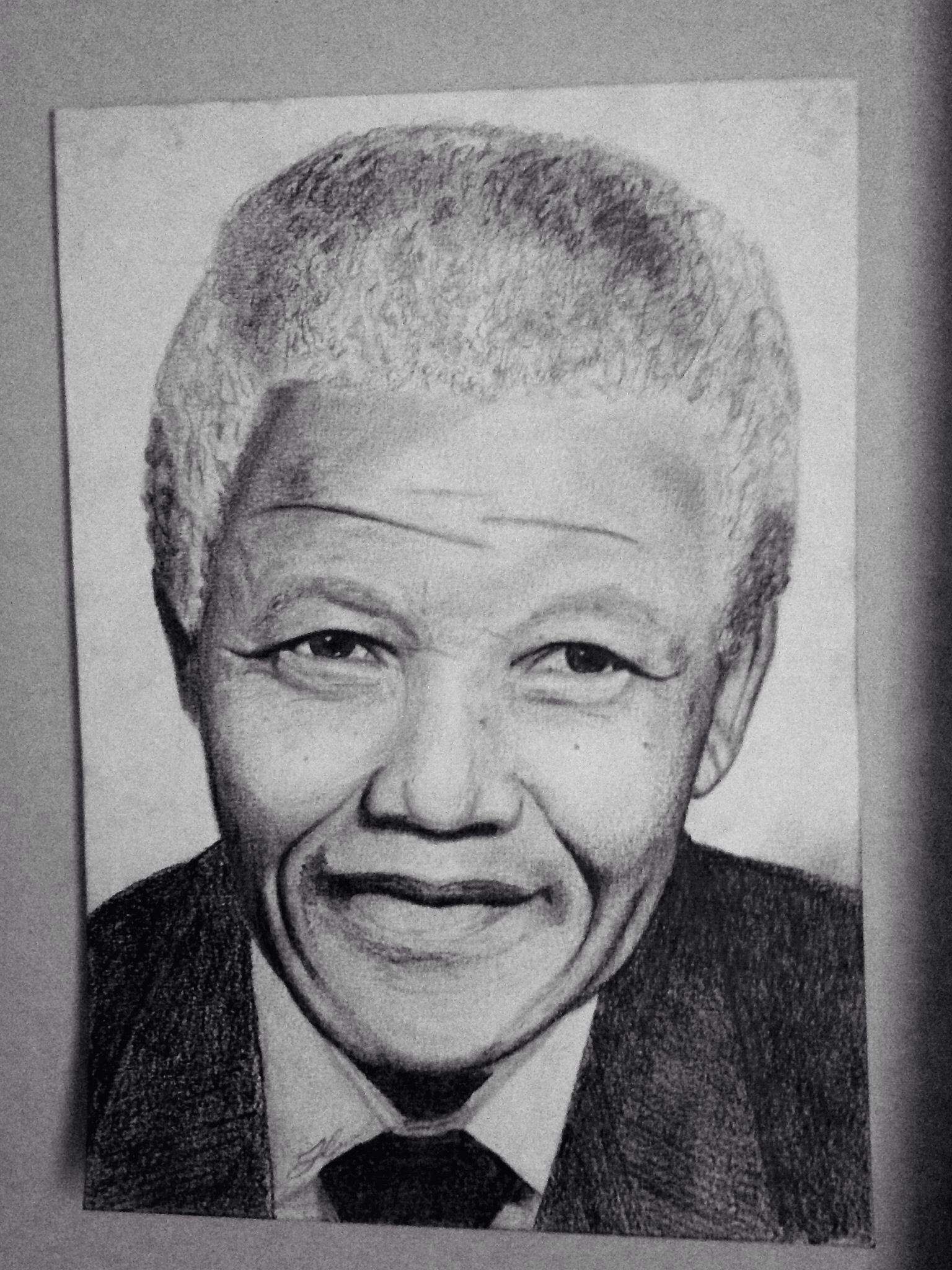 Nelson mandela pencil sketch portrait drawing next drawings