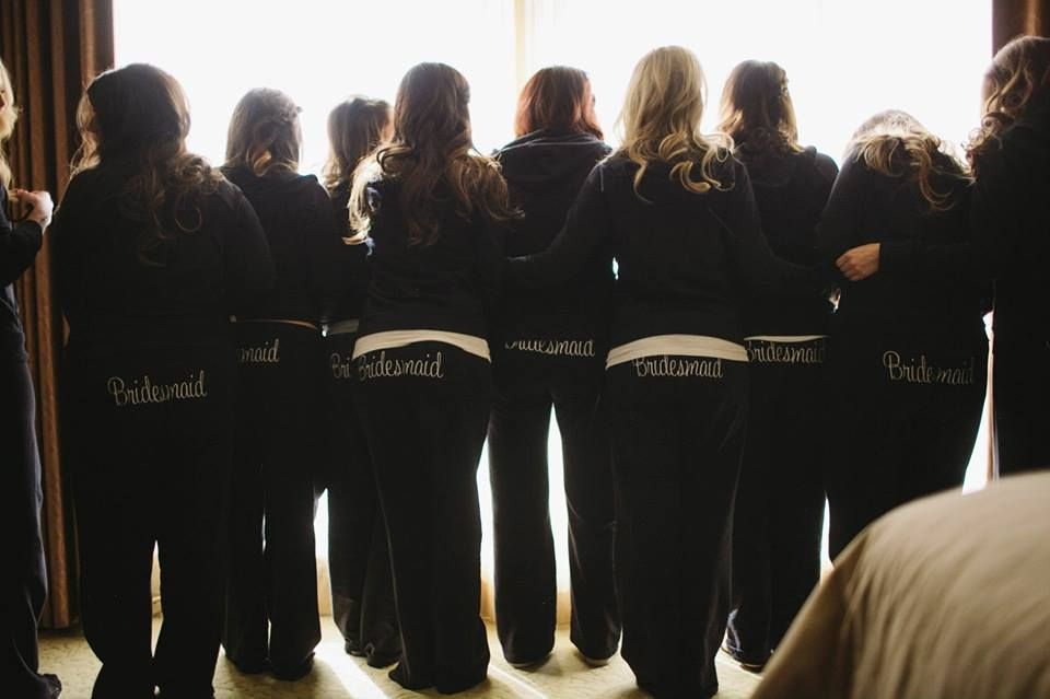 Bridesmaids sweat suits. #comfy #cute | Once in a lifetime ...