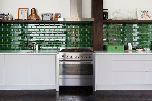 Groene metro tegels maison design risofu