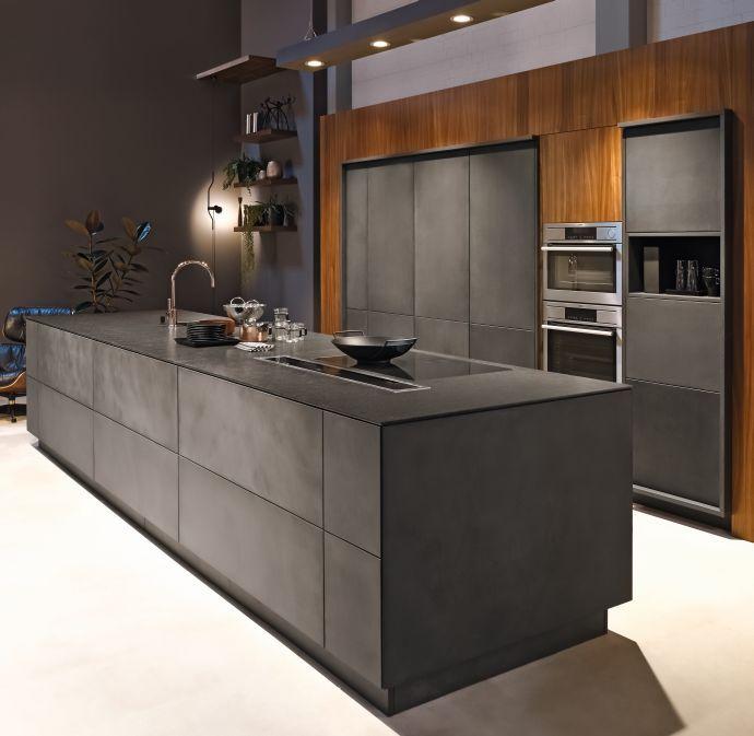 Küchenmöbel Küche Beton Altholz von Eggersmann Ideen - küchen aus altholz