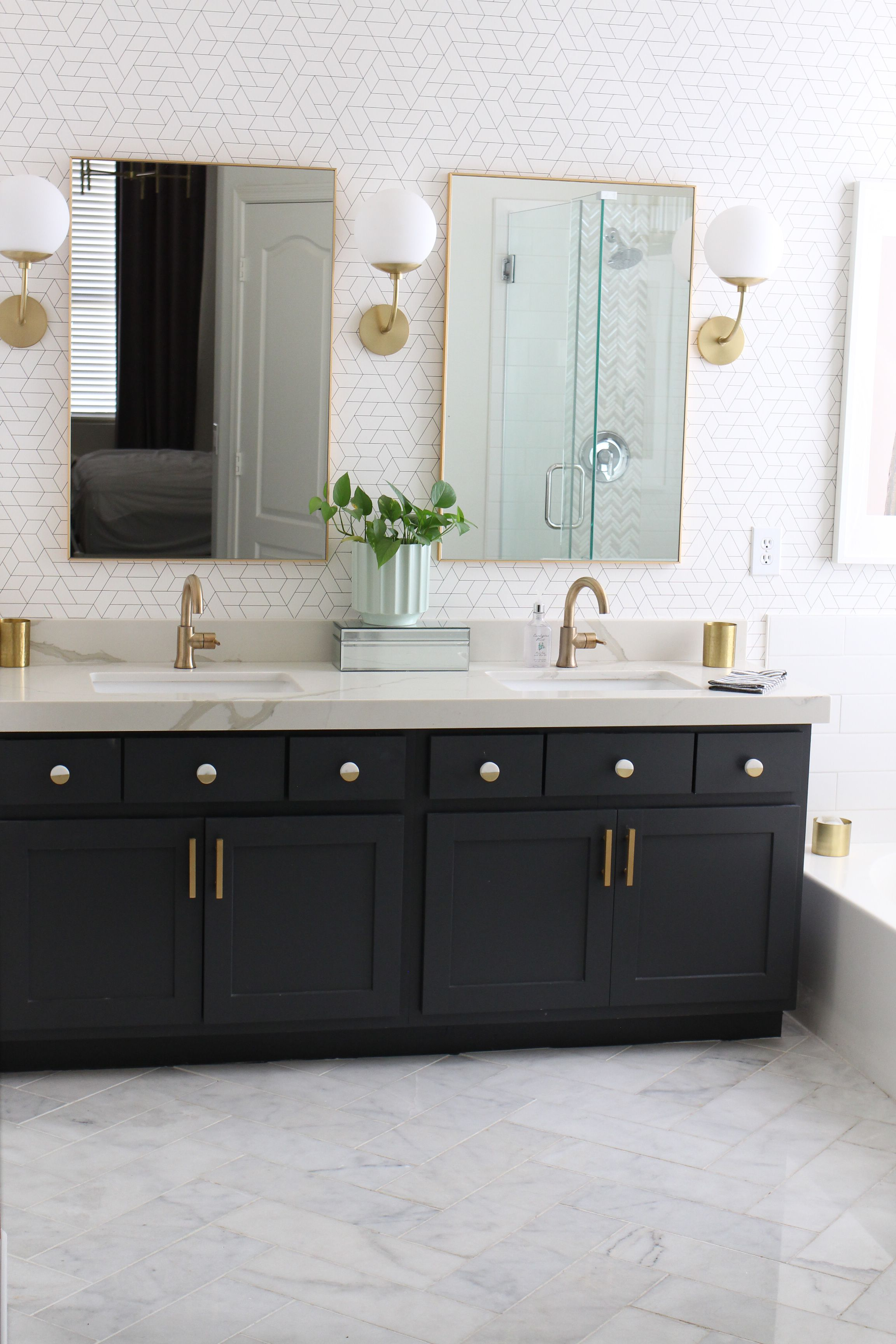 Modern Master Bathroom Remodel Before And After The Posh Home Modern Master Bathroom Remodel Modern Master Bathroom Modern Bathroom Remodel