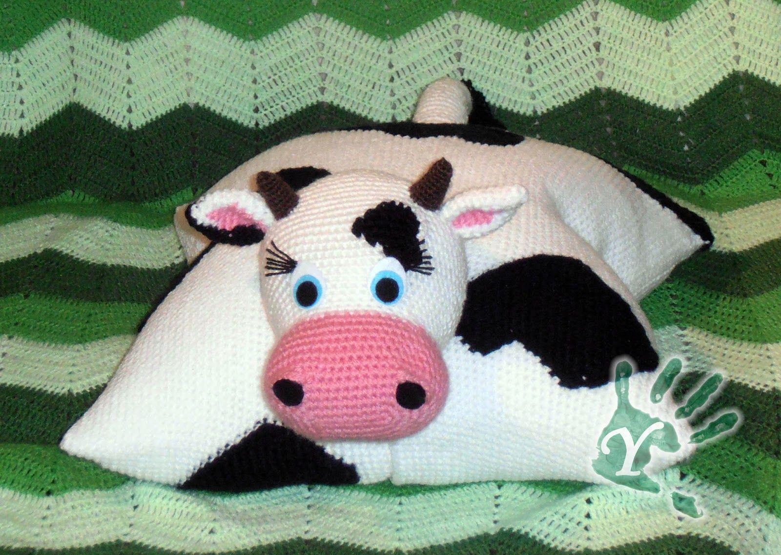 Amigurumi Vaca : Yolanías cojín vaca d amigurumis villablanca