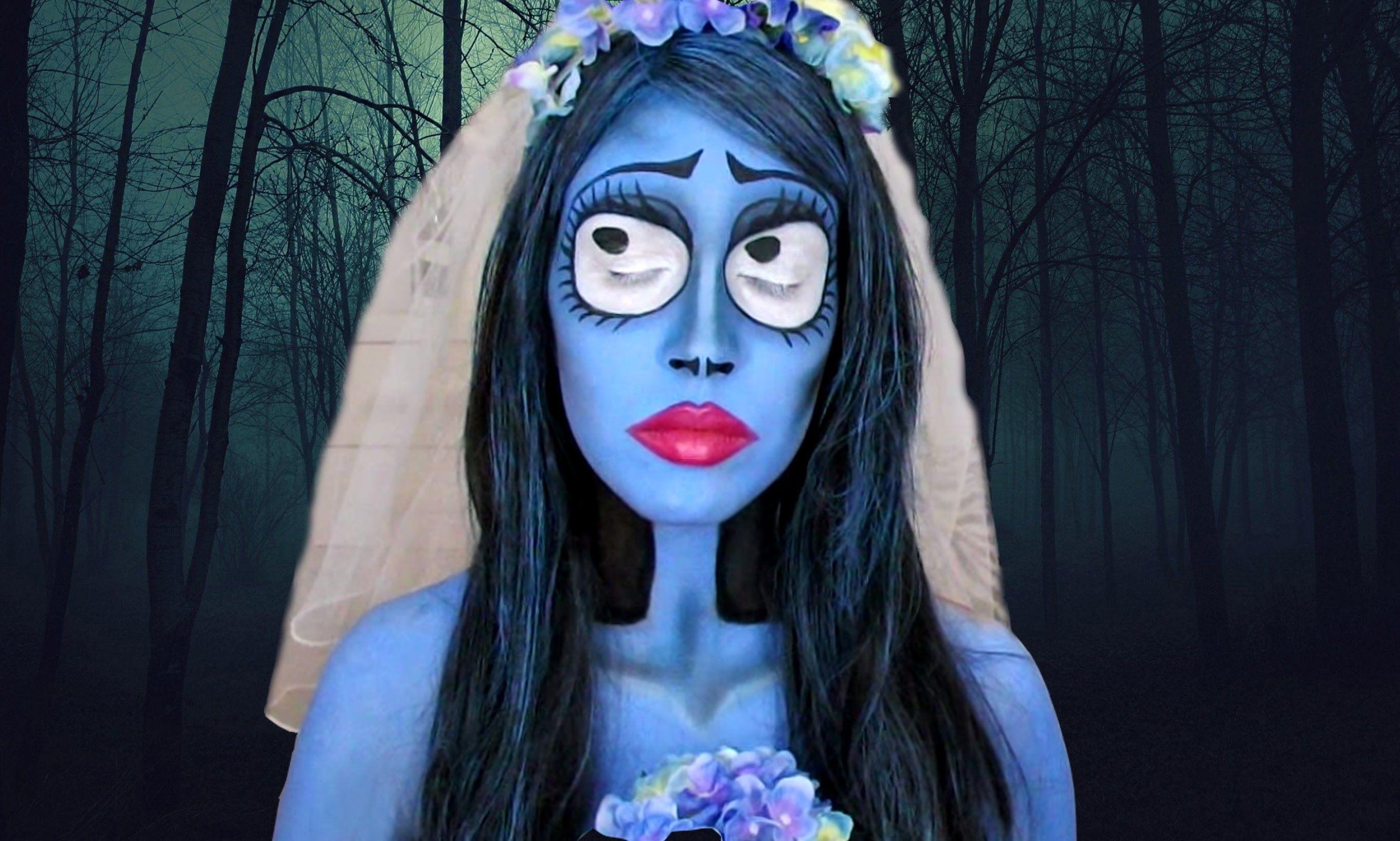 disfraz de la novia cadaver maquillaje