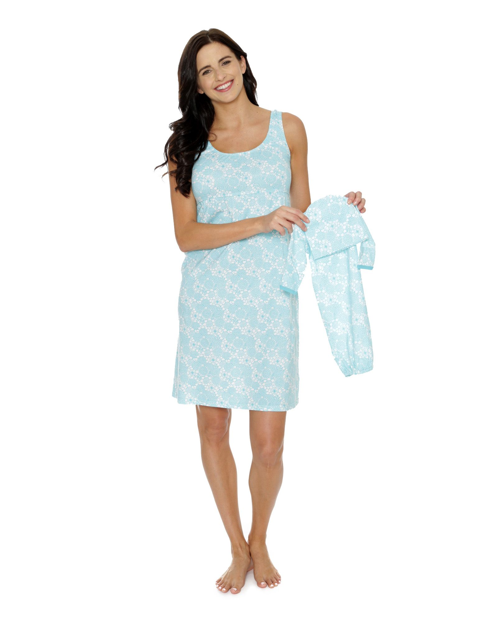 Celeste Maternity nursing nightgown with matching baby | Mommy and ...