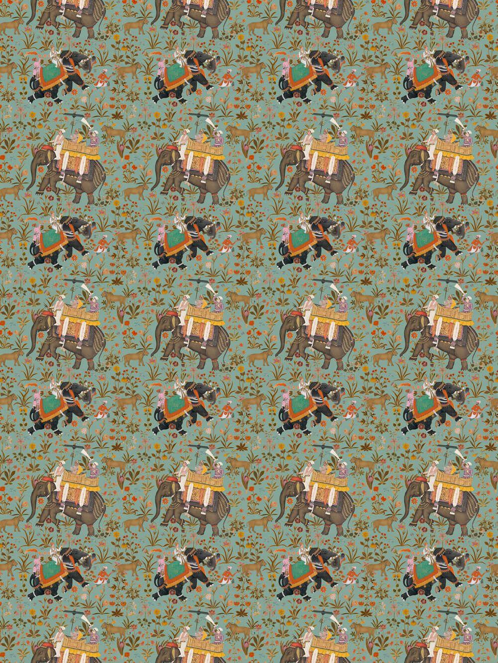 Hindustan by Mind the Gap Aquamarine Fabric FB00011