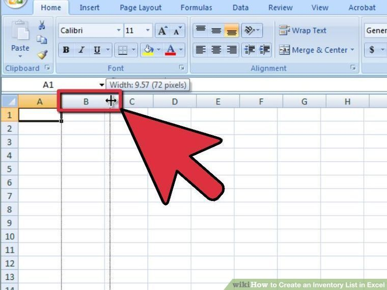 4 Ways to Create an Inventory List in Excel - wikiHow Work - Restaurant Inventory Spreadsheet Template