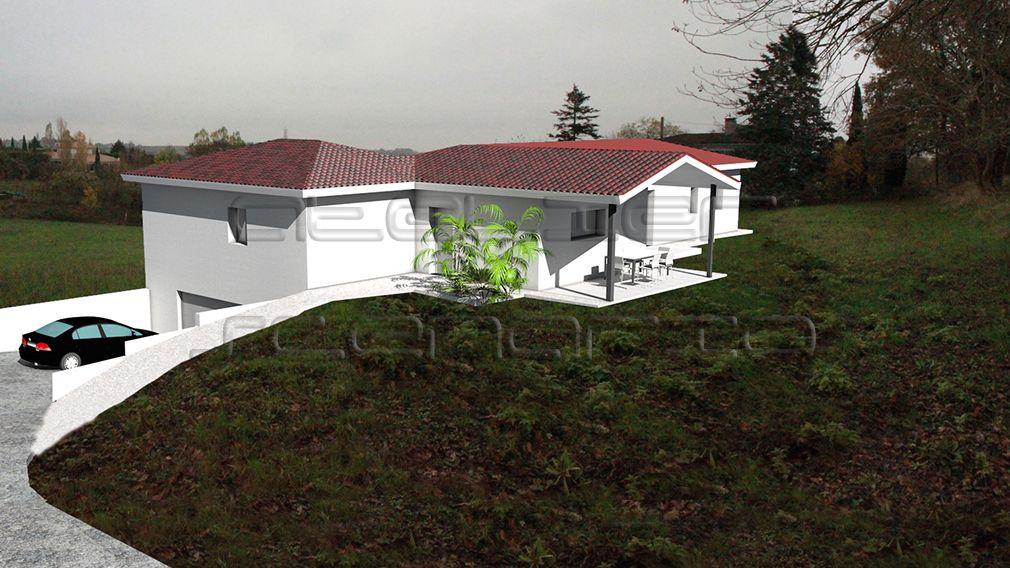 maison sur terrain en pente avec garage enterre maisons pinterest terrain en pente. Black Bedroom Furniture Sets. Home Design Ideas