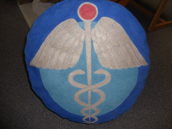 Egyptian Caduceus Symbol Of Thoth Hand Painted By Interioralchemy