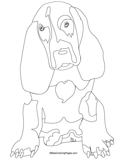 basset dog coloring pages   basset hound coloring page   Download Free basset hound ...