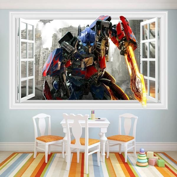 Transformers Wall Decals u0026 Wall Stickers & Transformers Wall Decals u0026 Wall Stickers | 3D Window Wall Decals ...