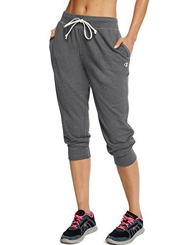a94d565162bbf New Trending Pants: Champion Womens French Terry Jogger Capri, Oxford Gray,  XL. Champion Women's French Terry Jogger Capri, Oxford Gray, XL Special  Offer: ...