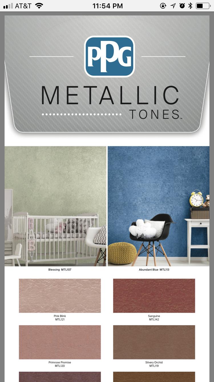 Ppg Metallic Tones Color Palette 1 4 Color Palette Home Decor Decals Decor