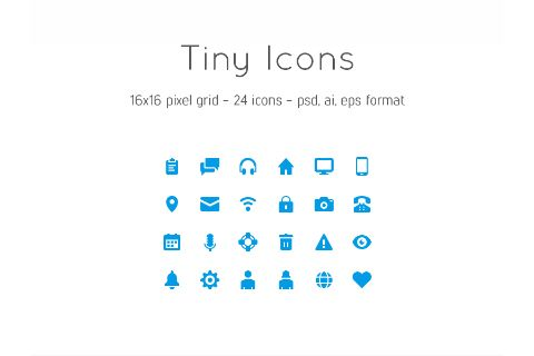 24 Free Vector Tiny Icons 1st Pinterest Icons, Free design and