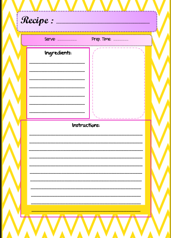 how to write instructions template