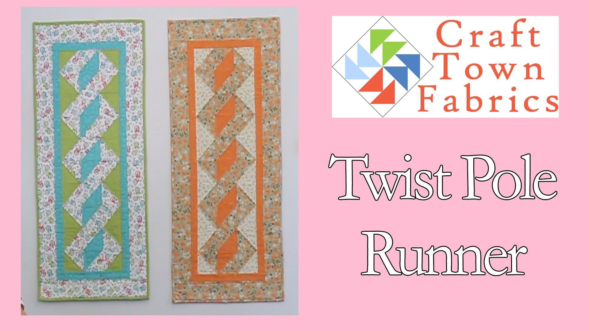 Love This Twist Pole Table Runner Quilting Home Decor