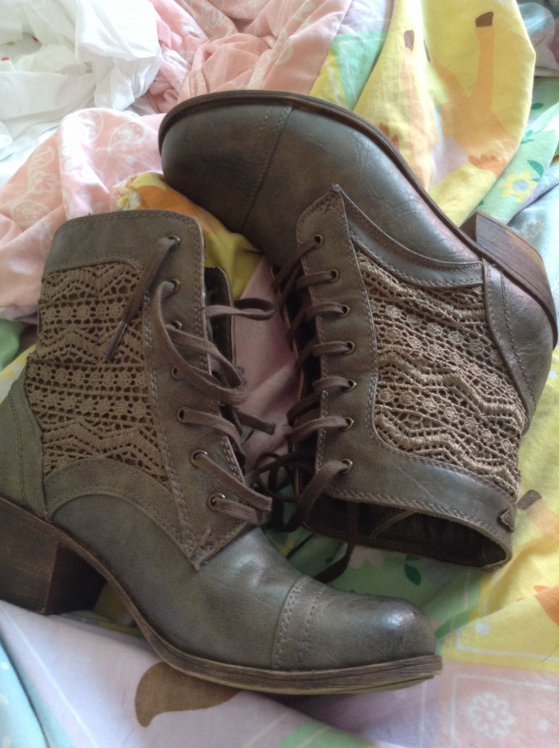 I got a pair of combat boots!!!!!!!. I am in LOVE with these boots