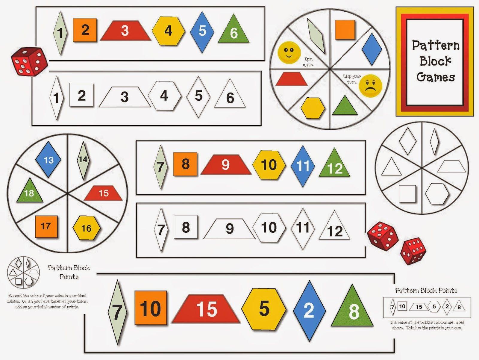 Pattern Block Games Pattern Blocks Activities Pattern Blocks