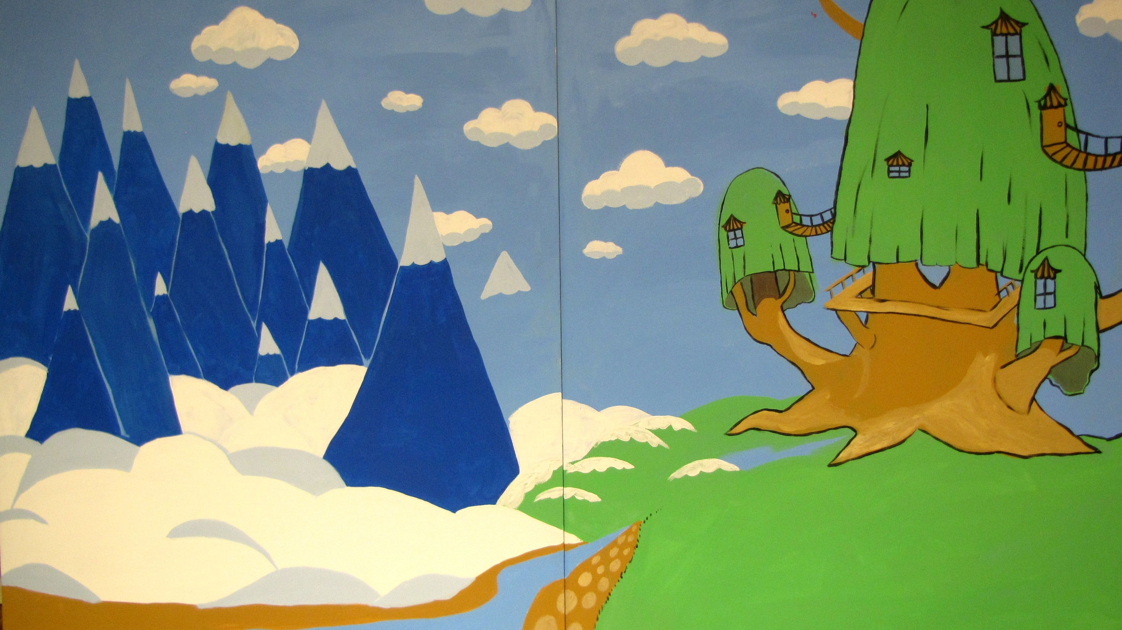 10 ft x 10 ft Adventure Time backdrop for birthday party, by Regina ...