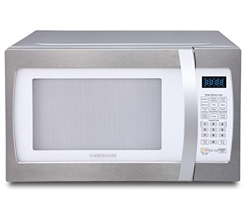 Farberware Professional Fmo13ahtple 1 3 Cu Ft 1100 Watt Microwave Oven With Smart Sensor Cookin In 2020 Countertop Microwave Countertop Microwave Oven Microwave Oven