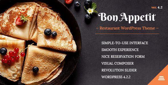 ThemeForest - Bon Appetit - Restaurant WordPress Theme Free - free reservation forms