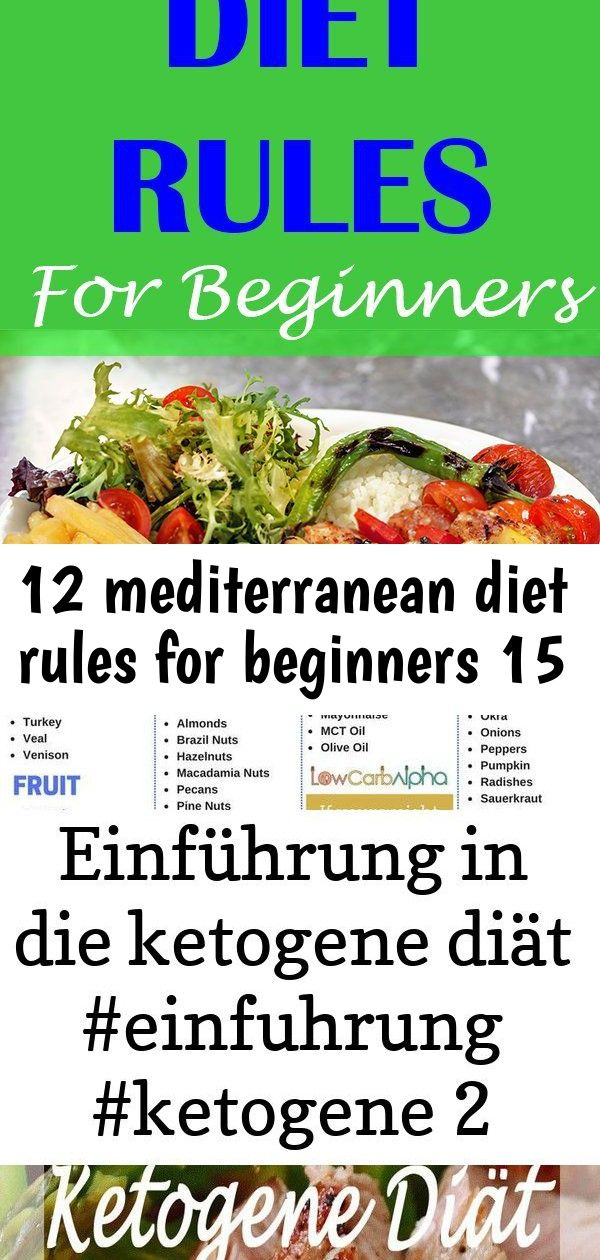12 mediterranean diet rules for beginners 15 If you want to lose weight and maintain optimal health using the Mediterranean diet this article will show you the most impor...