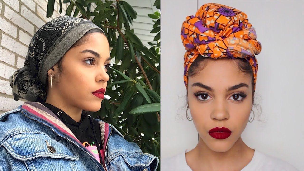 4 Ways I Tie My Head Wraps Scarf Turbans I Love The Knit