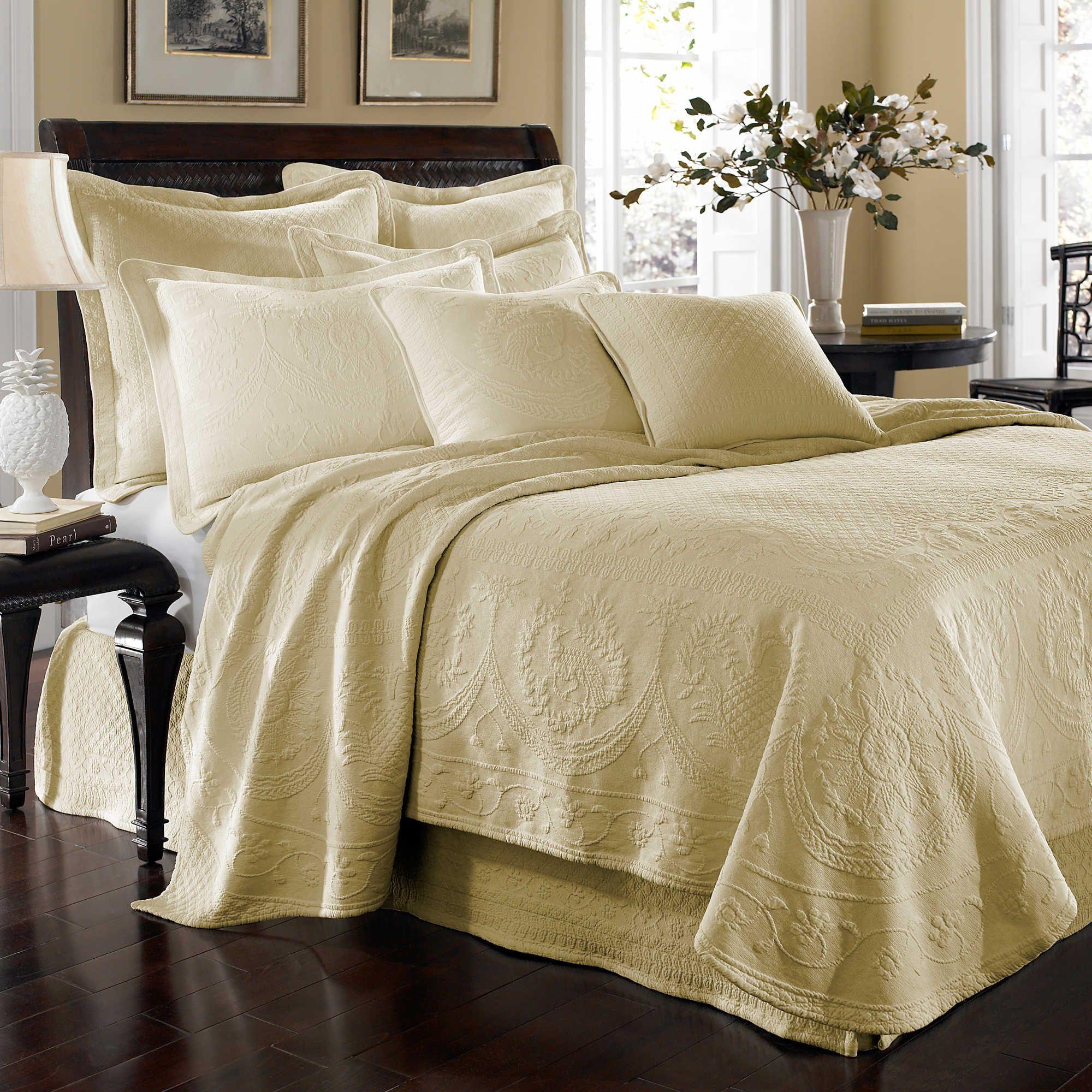 King Charles Matelasse Coverlet In Ivory Discount Bedroom