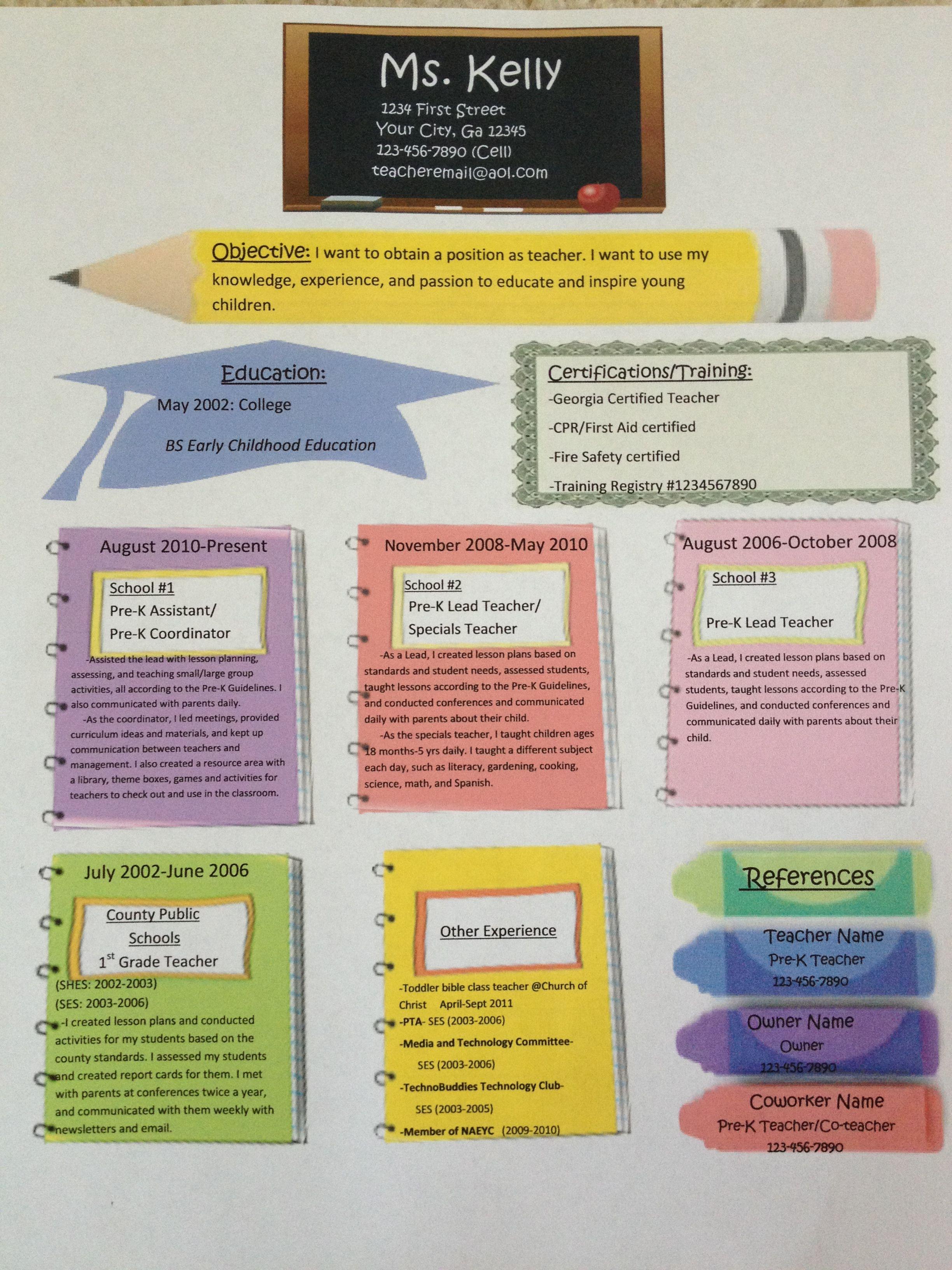 fun resume templates examples
