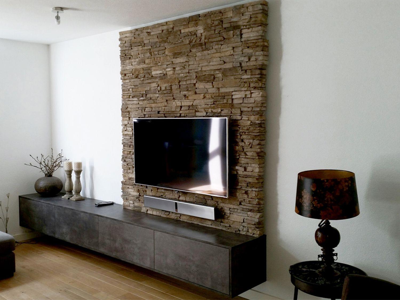 Tv Kast Muur.Afbeeldingsresultaat Voor Achterwand Tv Kast Deco Mur Salon