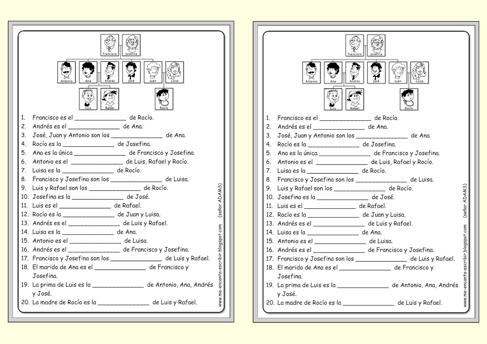 Worksheet Spanish Vocabulary High School