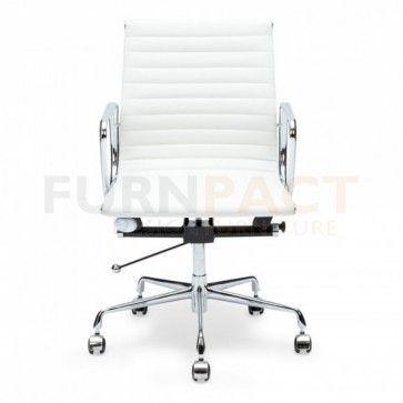 Bureaustoel Charles Eames.Eames Bureaustoel Ea 117 Wit Black Office Chair Contemporary