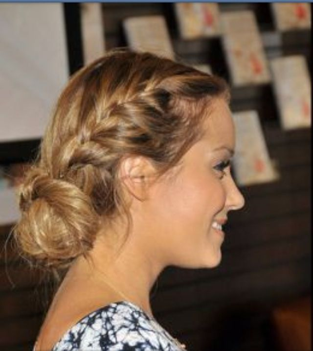 Cute messy bun!!