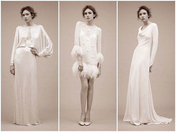 Vintage wedding gowns with long sleeves! Perfect for the #winter #bride.