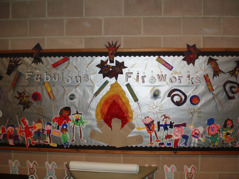 Firework display (Reception class) - children painted themselves ...