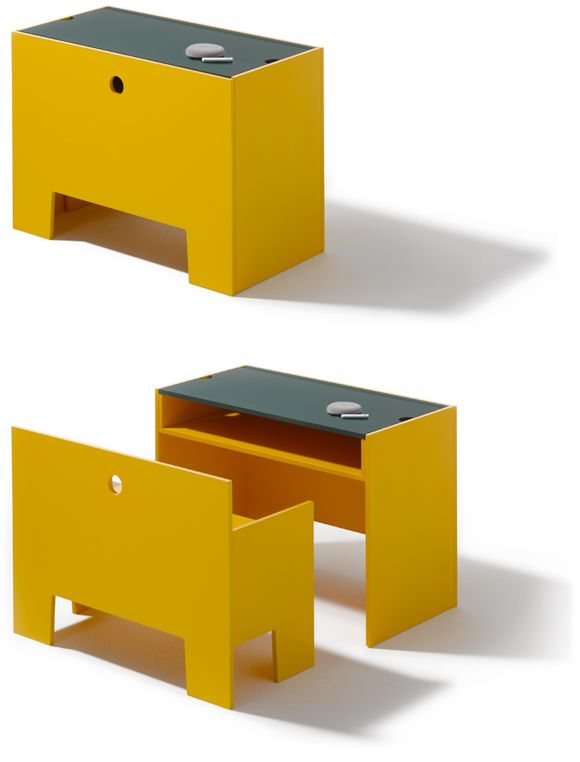 Another space saver Table and Bench Wonderbox, designed by Richard