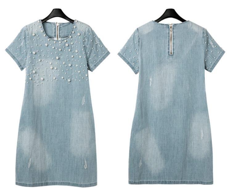 b3eaa4a170 Aliexpress.com  Comprar Vestido de algodón de mezclilla ocasional ...