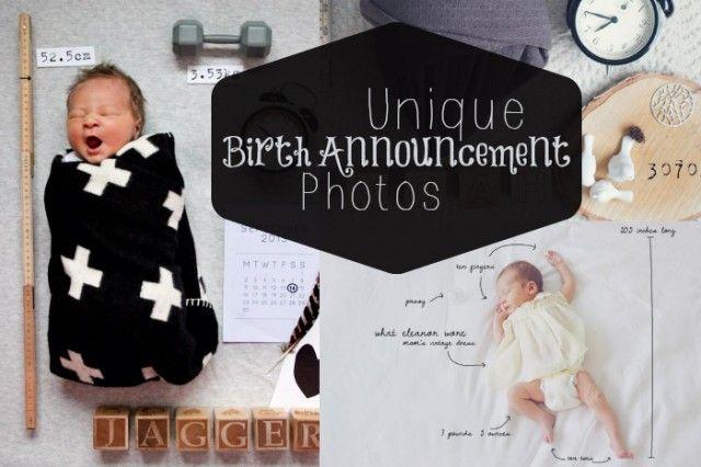 DIY Unique Birth Announcement Photoes – Fun Birth Announcement Ideas