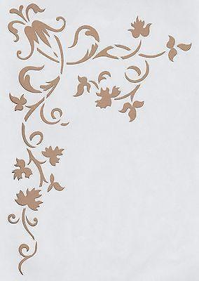 Cute Details zu Wandschablonen Schablone Wandtattoo Ornament Ecke XL