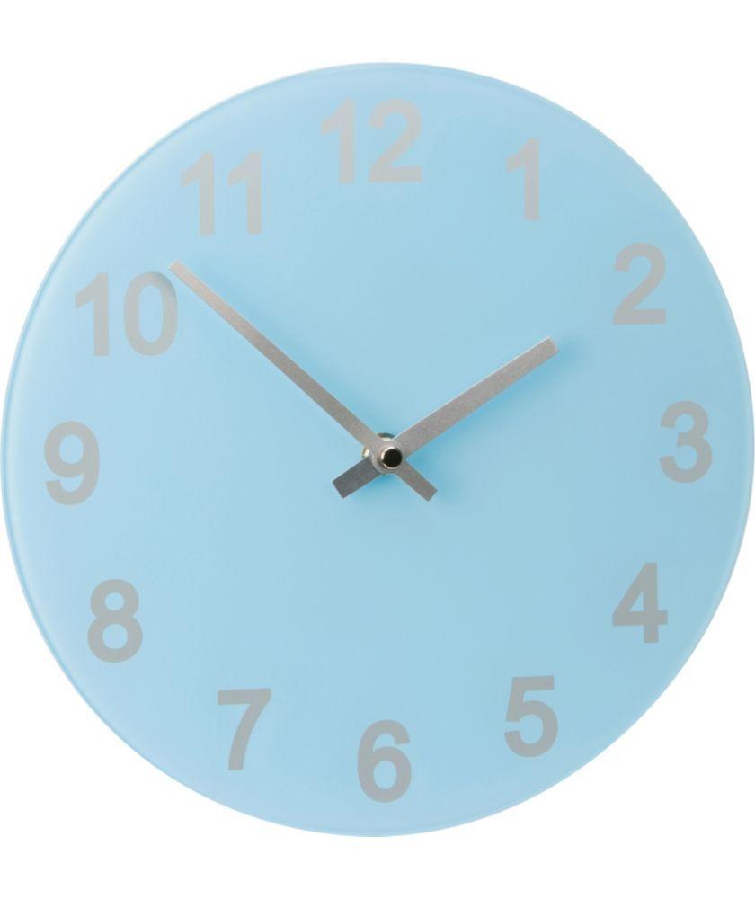 ColourMatch Jellybean Blue Round Glass Wall Clock at Argos.co.uk ...