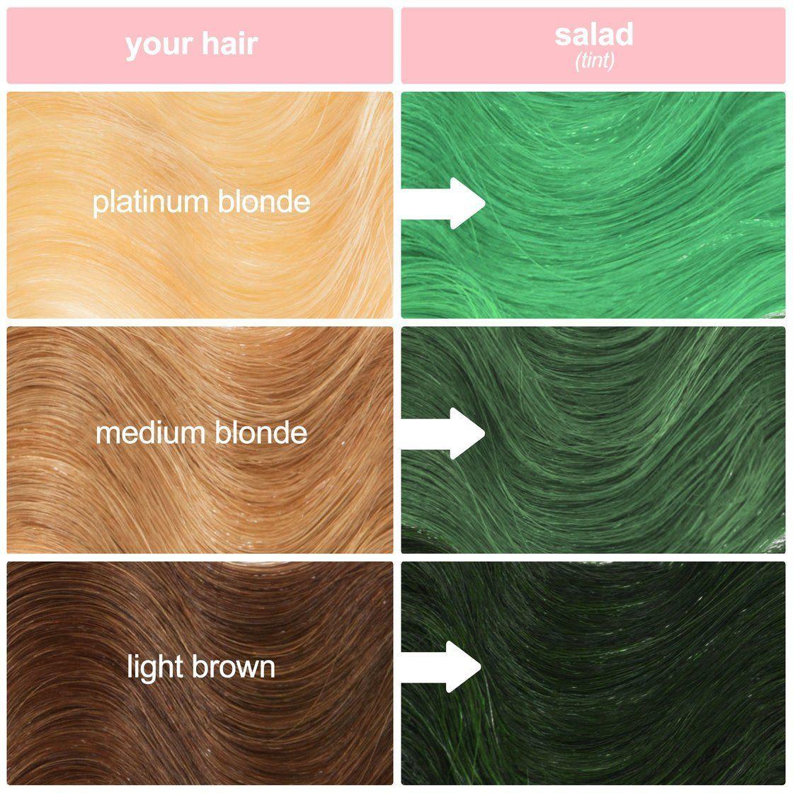 Salad Hair Color Tint Seapunk Green Hair Vitamins In 2019