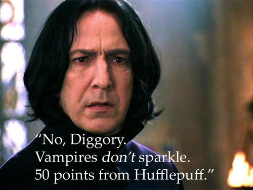 Snape knows what's up...