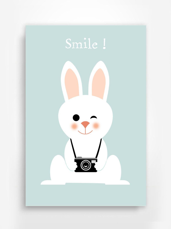 affiche poster lapin pour chambre d 39 enfant d coration