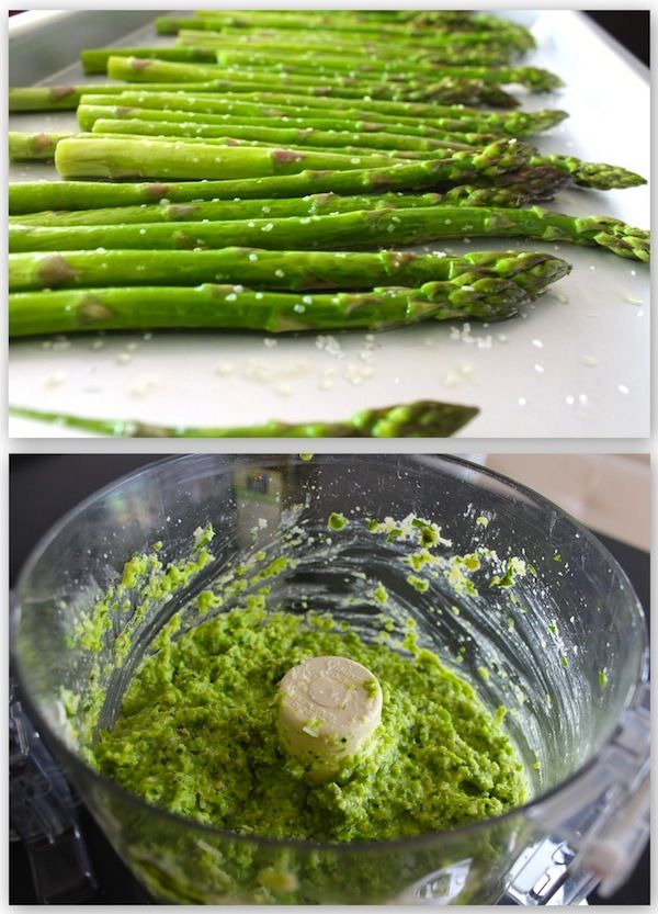 A cool use for springtime asparagus...turn it into pesto!