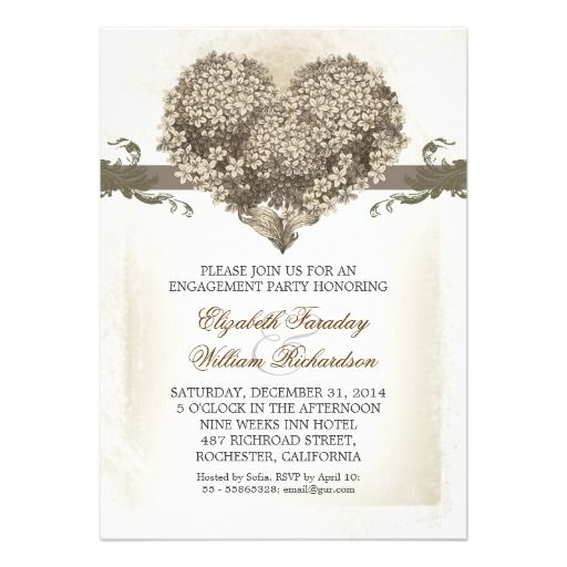 Vintage engagement party invitations Vintage engagement parties - engagement invite templates
