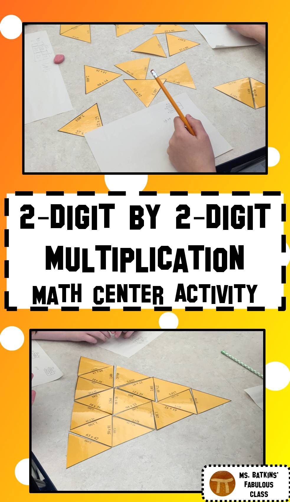 Multiplication Math Center Two Digit times Two Digit ...