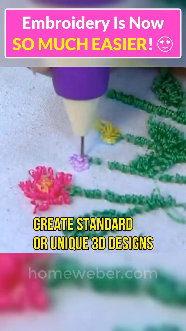 Magic Embroidery Pen Video Video Machine Embroidery Projects Embroidery Sewing Projects