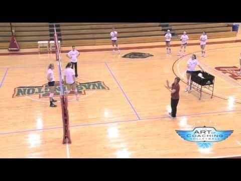 Hitter Vs Blocker Drill Isu Volleyball Training Volleyball Workouts Youth Volleyball