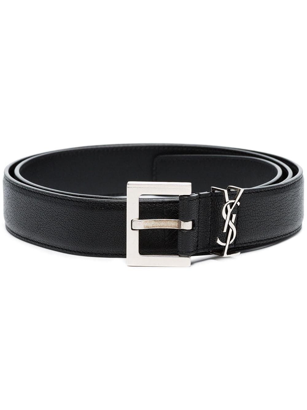 Saint Laurent Ysl Plaque Buckle Belt Farfetch Mens Belts Belt Saint Laurent